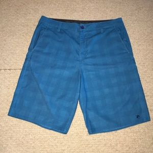 Rip Curl Boardwalk Men's Blue Checkered Shorts